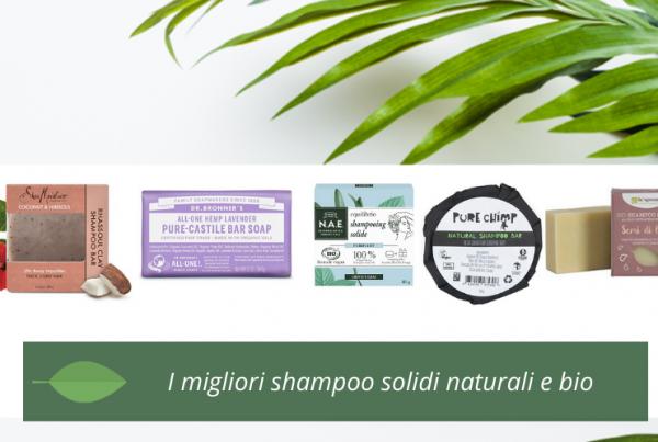 i migliori shampoo solidi naturali e bio